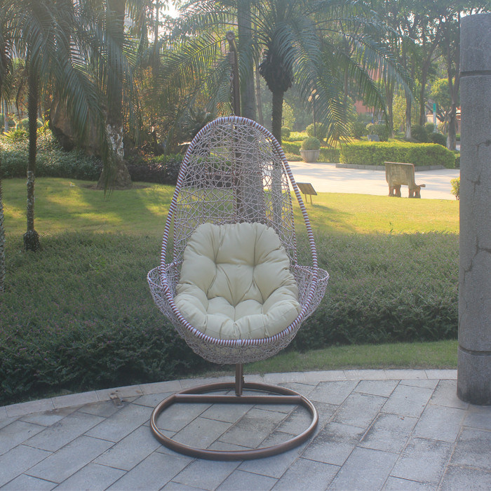 Wicker Rattan Swing Chair with Stand
