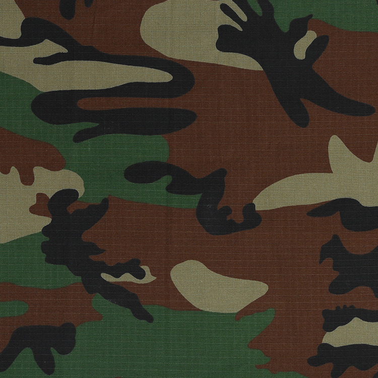 Ripstop Polyester Cotton Camouflage Military Textile Fabric
