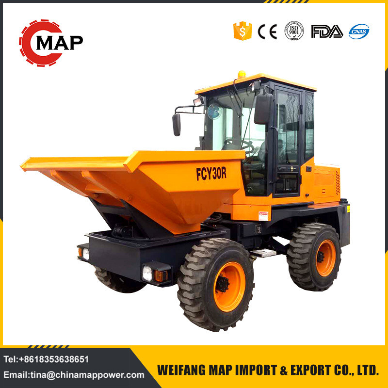 China Cheap Site Dumper 3tons 4WD Mini Dumper