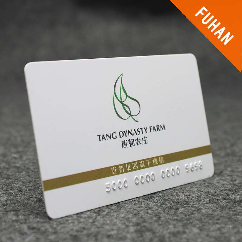 High Quantity Simple Design Embossed PVC Card