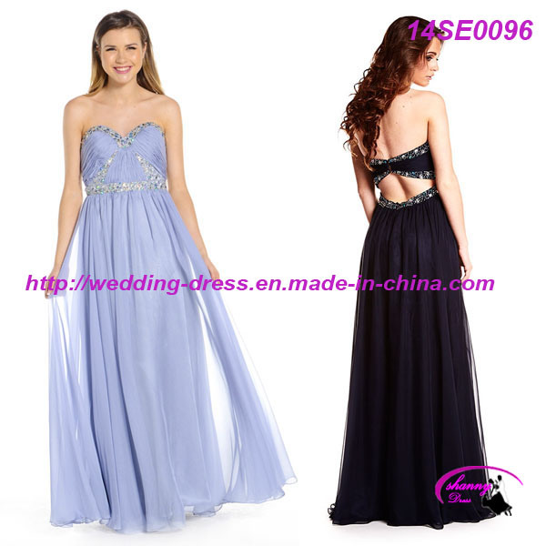 New Arrival Chiffon Sweetheart Party Dress Gown