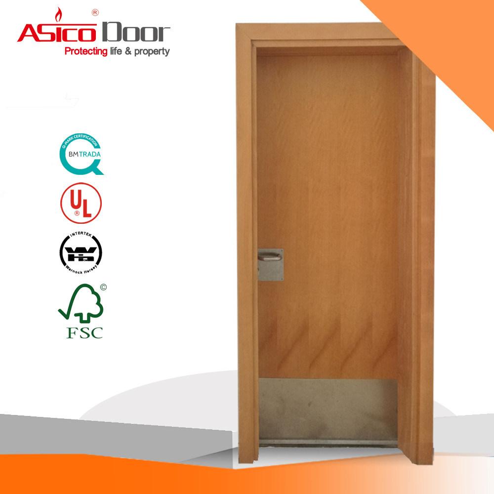 Wooden Fire Door Safety Door/Wood Door with British BS476 Certified