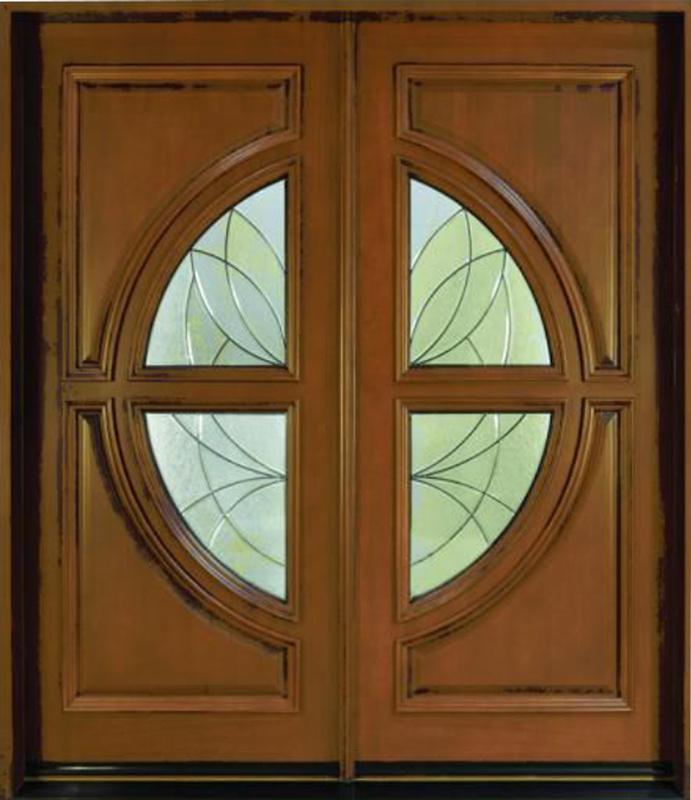 Solid Wooden Door with New Design, Entrance Door, Classic Wooden Door