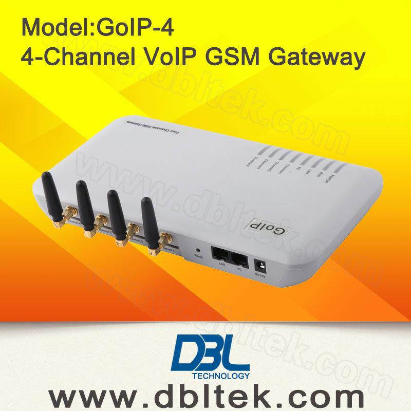 4 Ports GSM Gateway with 4 SIM Cards in Goip Gateway