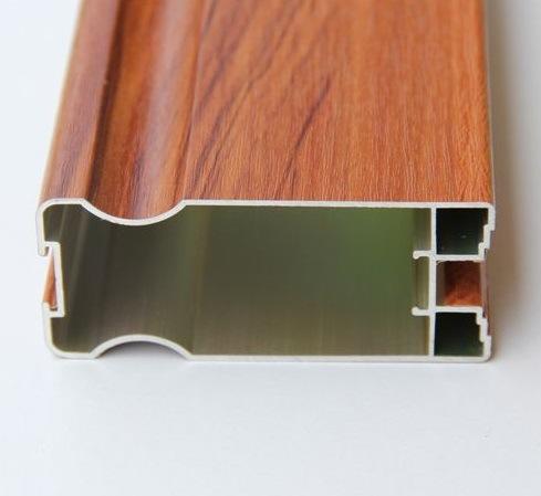 Classic Style Wood Grain Aluminium Profiles