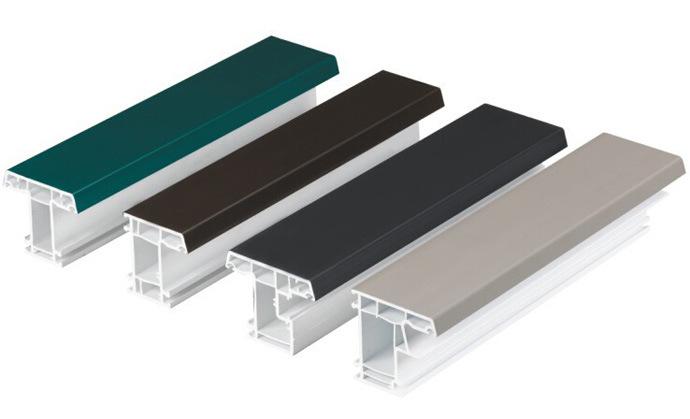 Colour UPVC Profiles Termal Insulation