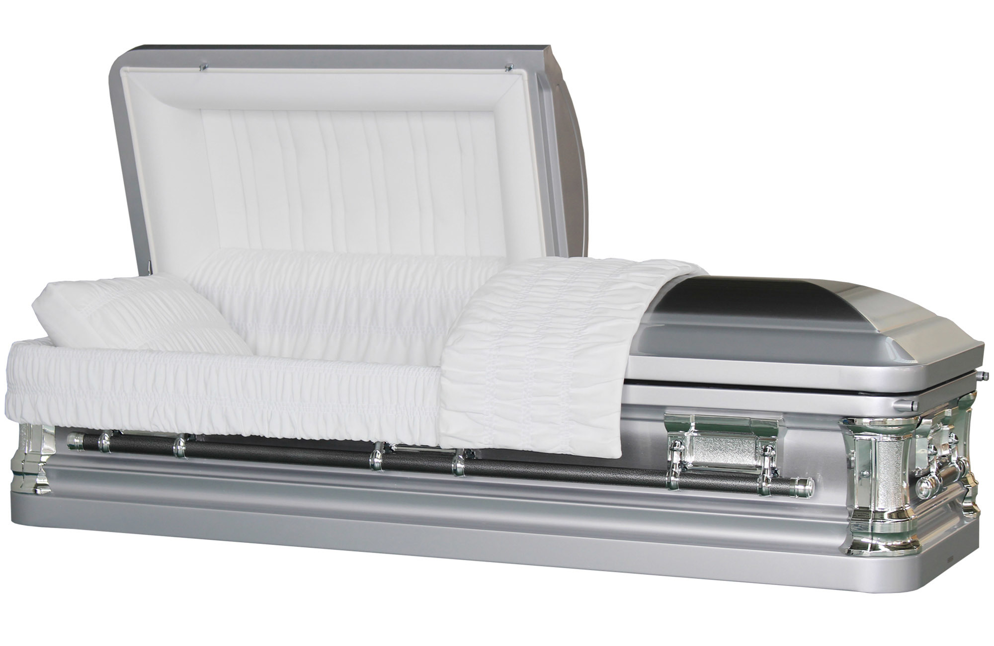Butler Silver Brush Metal Casket for Us Market Funeral Coffin
