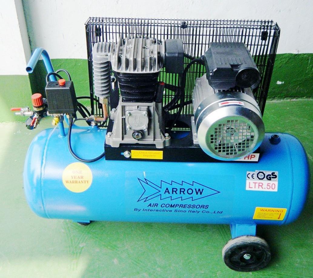 China piston belt drive air compressor 50l 2hp al255 for Piston type air motor
