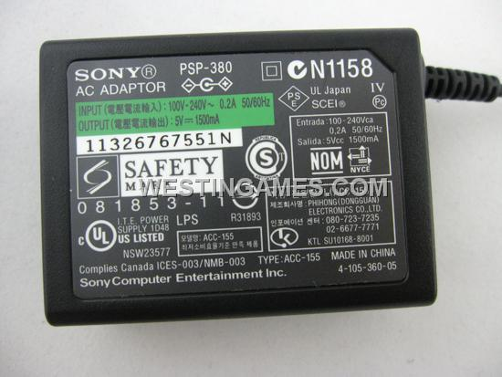 Original 5V AC Adapter with Power Cable for PSP/ PSP Slim/3000