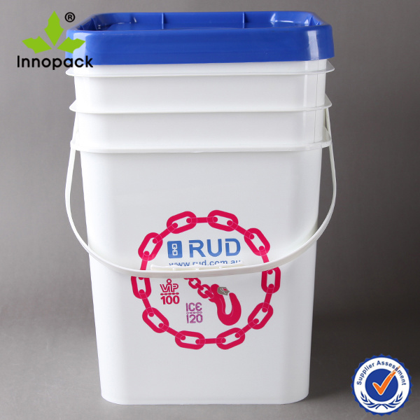 20L Square Plastic Pail Bucket with Lids (PPP20L004FS)