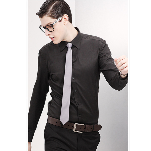 Black Wholesale Bulk OEM Dress Shirts for Man