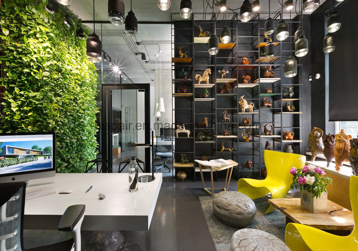 Uispair Office Home Hotel Decorative Space Artificial Green Plant Furniture