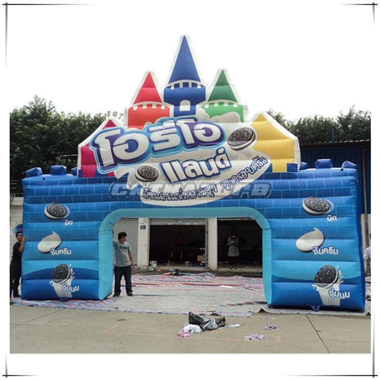 Top Quality PVC Tarpaulin Made Inflatable Archway for Biscuit Promotion