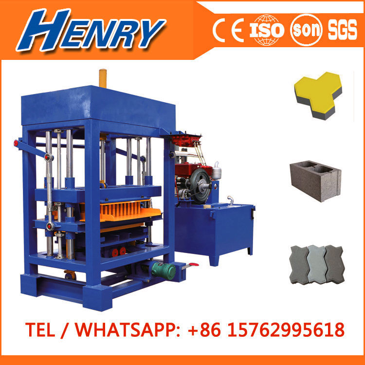 Qt4-30 Small Hydraulic Pressure Diesel Engine Block and Brick Making Machine, Colorful Paver Making Machinery