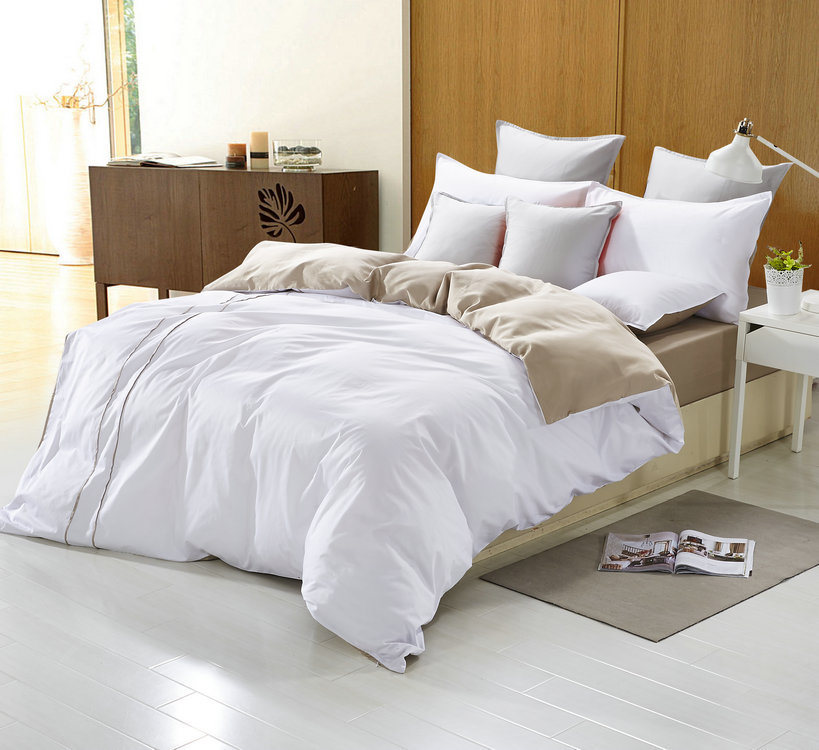 White Full Cotton Quilting Bedding Set