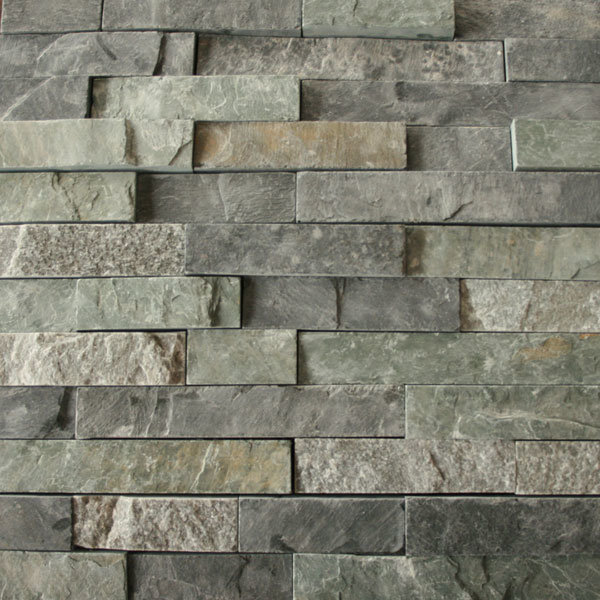 Ledgestone Wall Cladding : China green slate stack stone veneer cultural
