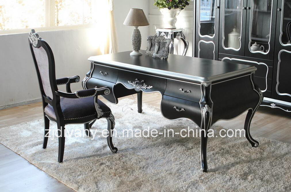 French Wood Desk Reading Room Furniture