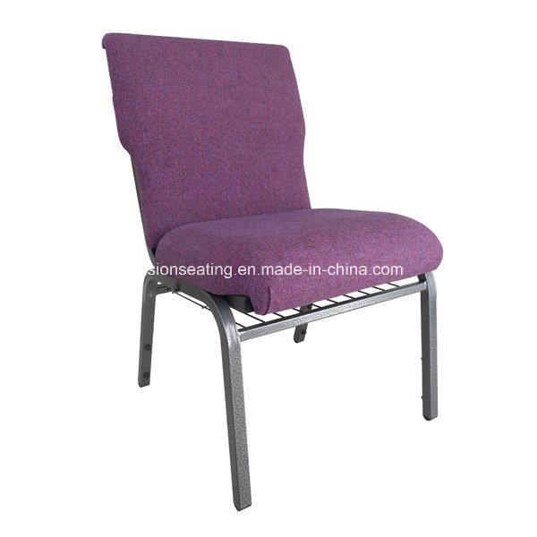 Metal Steel Stackable Padded Ergonomic Chapel Worship Church Chair (4001)