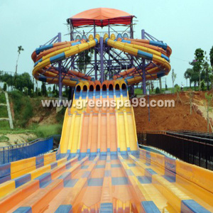 Variable Speed Race Water Slide for Water Park
