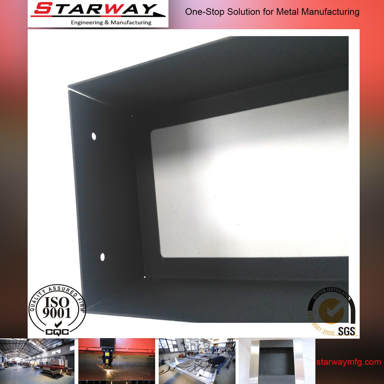 Custom Steel Black Coating Sheet Metal Fabrication