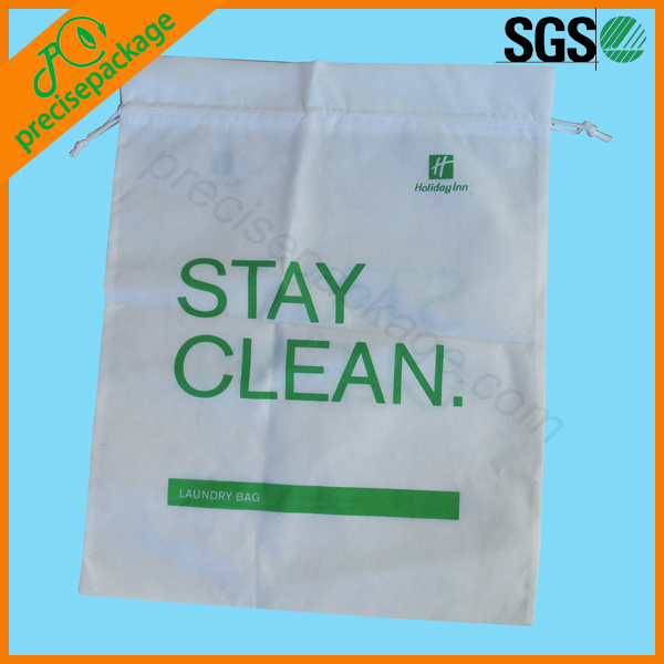 Customized New Design Reusable Nylon Drawstring Laundry Bag
