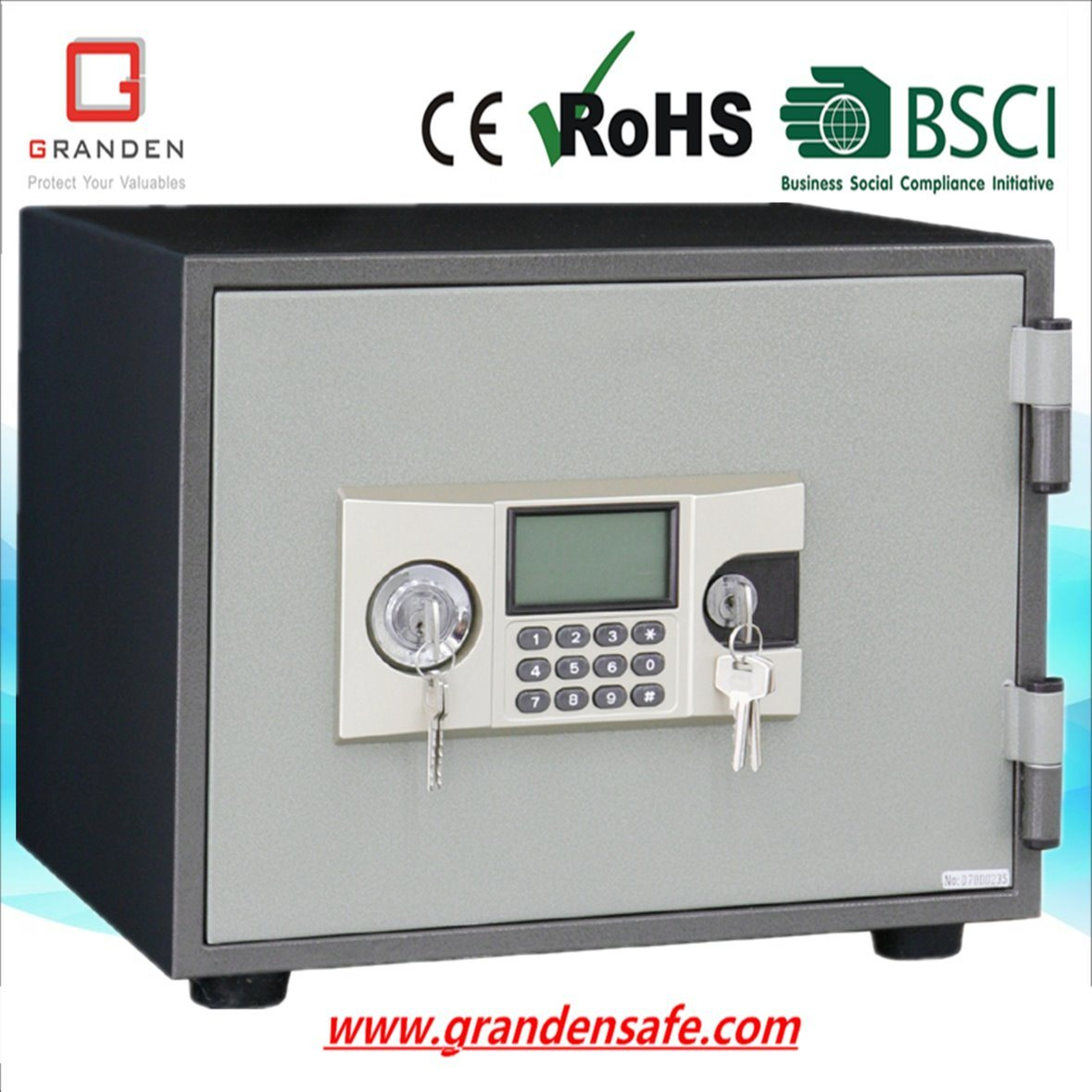Fireproof Safe for Home and Office (FP-305E) , Solid Steel