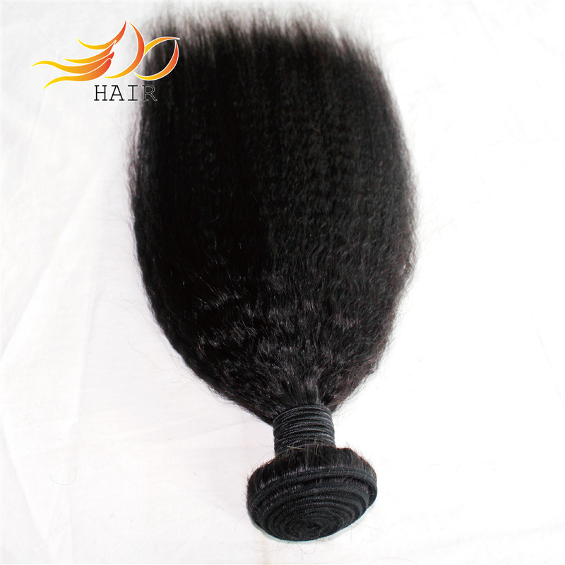 Kinky Straight 8A Grade Indian Virgin Human Hair Weft
