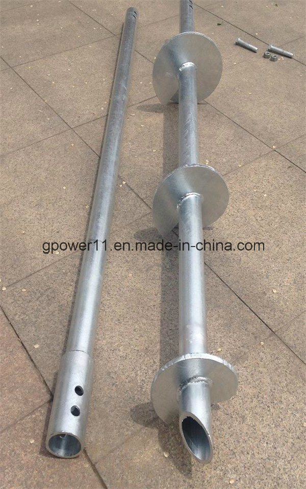 Galvanized Ground Helical Screw Piles