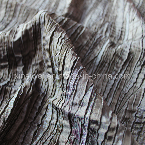 Jacquard Polyester Rayon Stretch Fabric /Crepe Fabric (SLTN9276)
