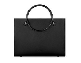 Western Style Shoulder Bag Metal Circle Handle Fashion Handbags (LDO-01625)