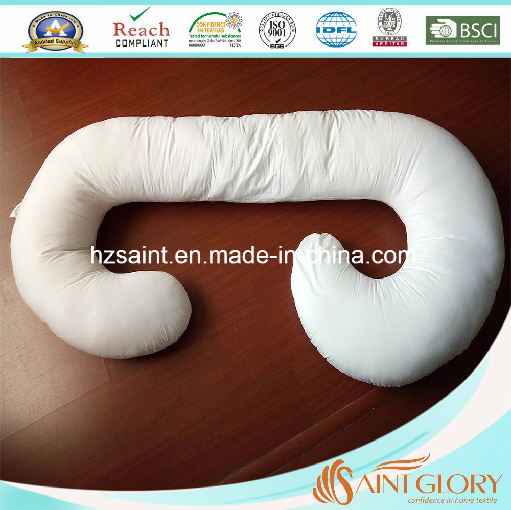 Wholesale Cotton Knitted Jersey J Shaped Pregnant Maternaty Pillow
