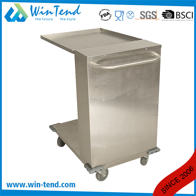 Manufactory Full Size Stainless Steel Easy Take Stacking Tray Dispenser with Wheels