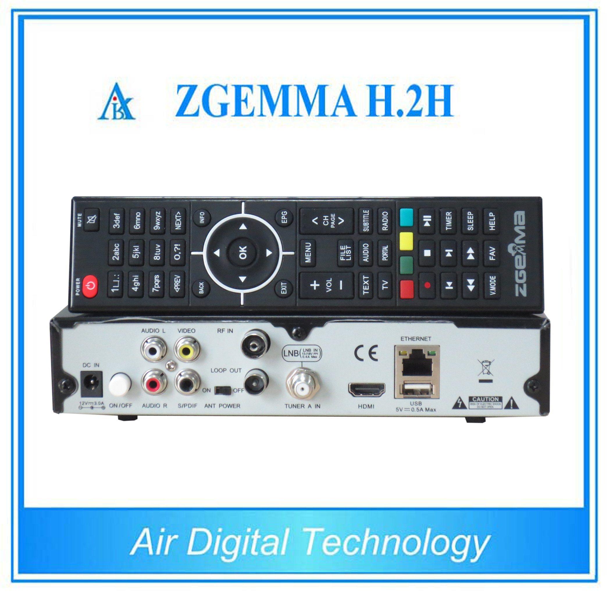 Combo Receiver Zgemma H. 2h with DVB-S2 + DVB-T2/C Hybrid Tuner