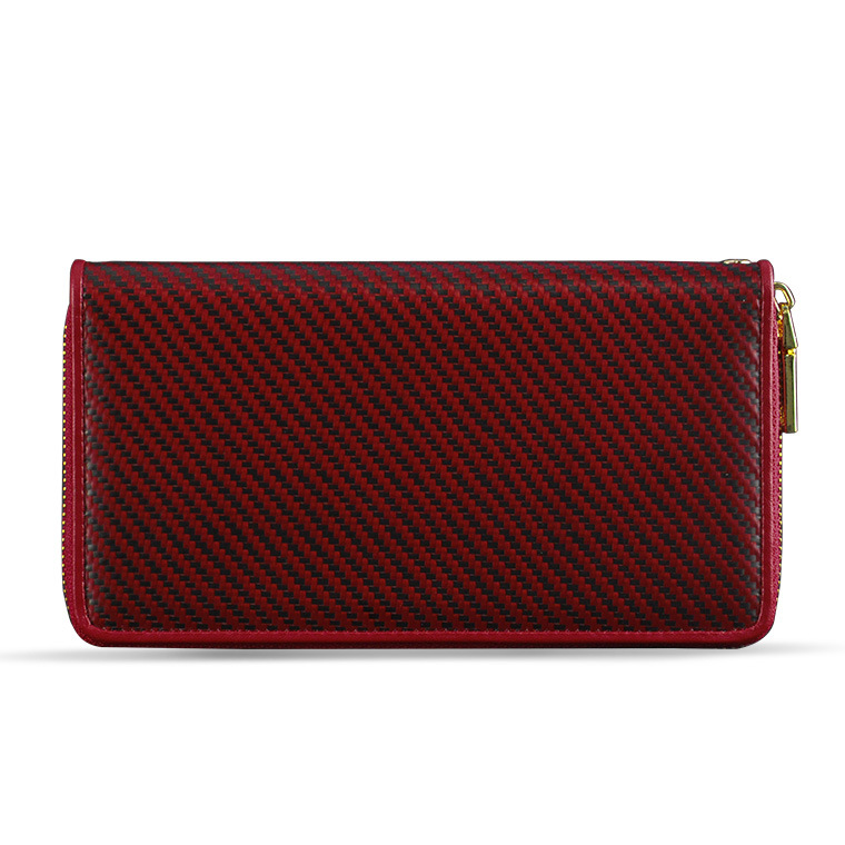 2017 Hot Selling Red Ladies Wallet Purse Women Long Wallet with Zippered Compartment Ladies Hand Purse