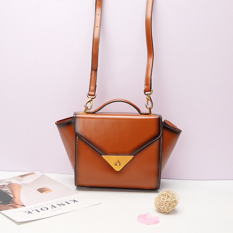 Al90033. Shoulder Bag Handbag Vintage Cow Leather Bag Handbags Ladies Bag Designer Handbags Fashion Bags Women Bag
