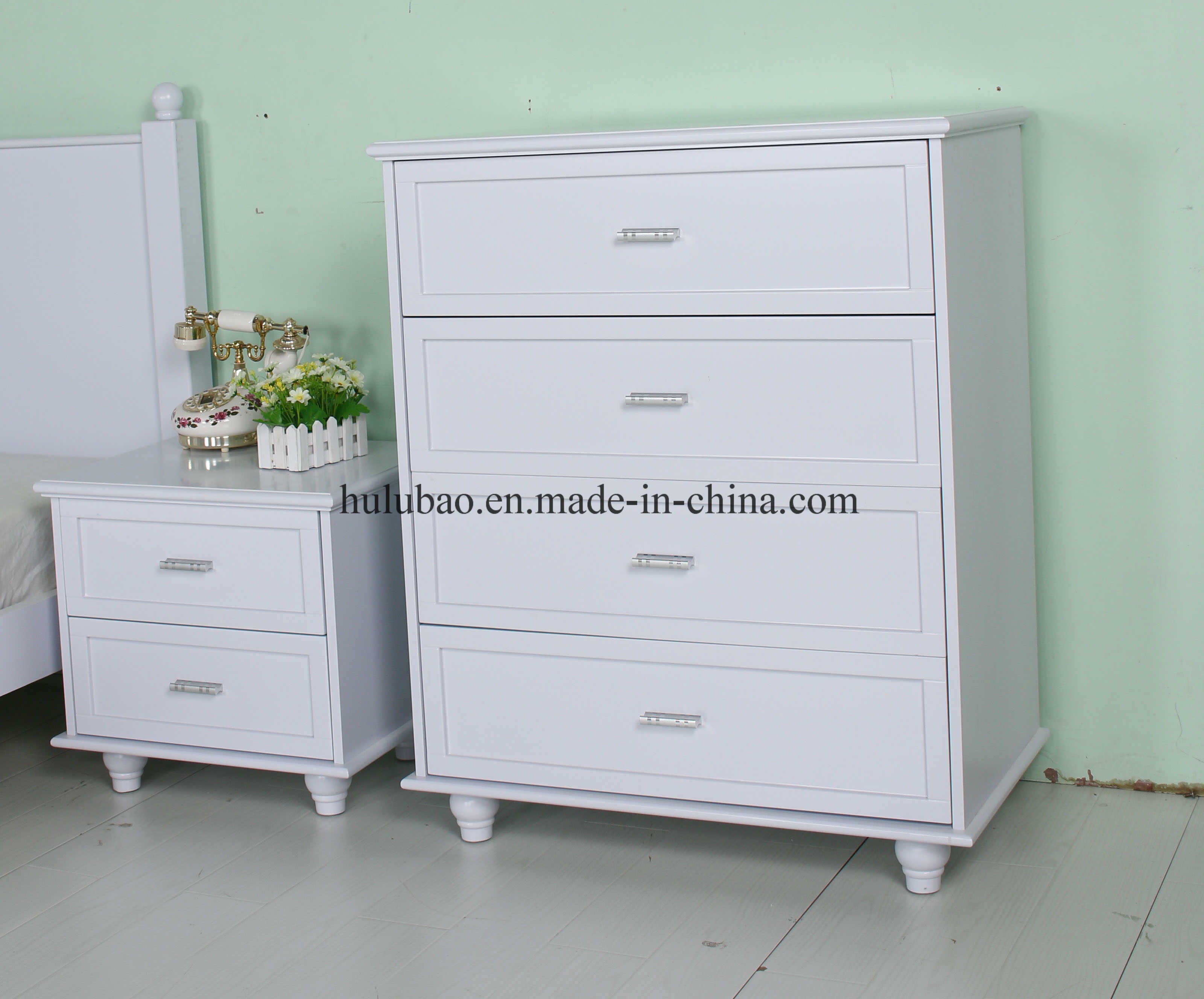 China Factory Design Korean Style Kids Furniture for Hotel Bedroom Set (1532A)