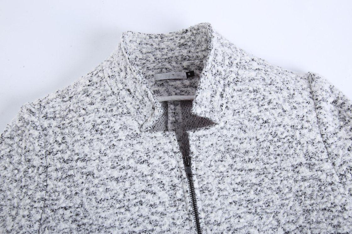 European Design Women Fashion Winter Zipper Long Coat