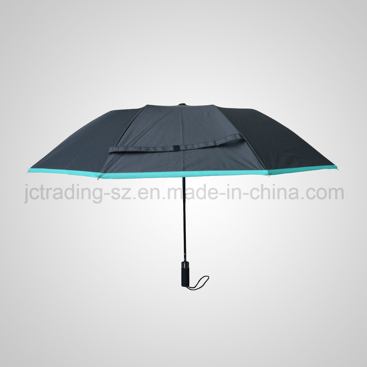2 Section Automaic Folding Umbrella Rain & Sun Parasol (JF-ABZ201)