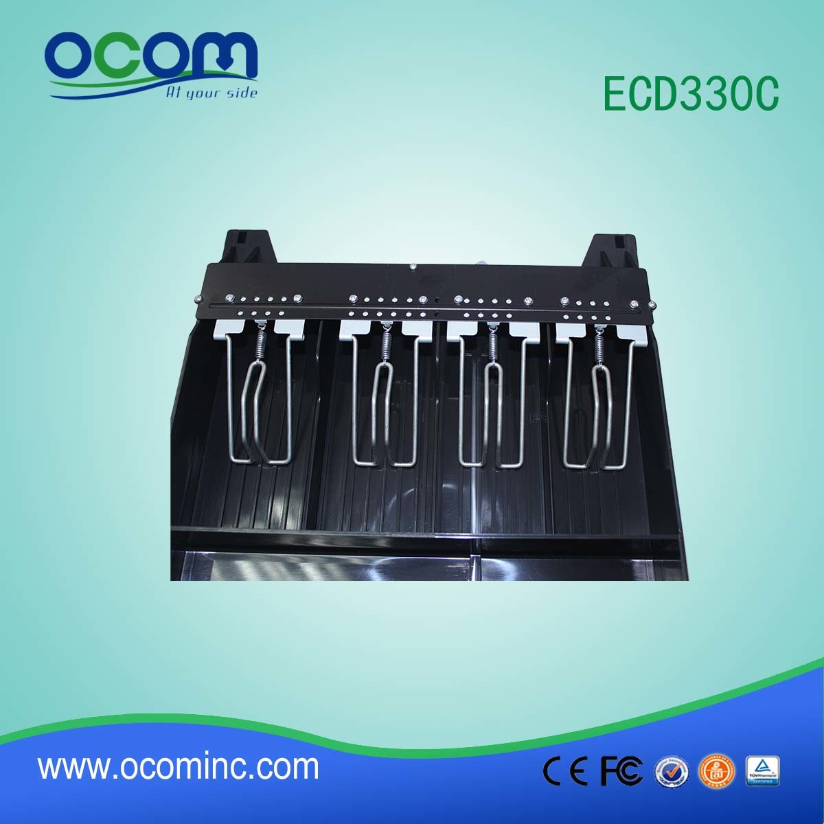 Rj11 12V Metal Cash Drawer (ECD330C)
