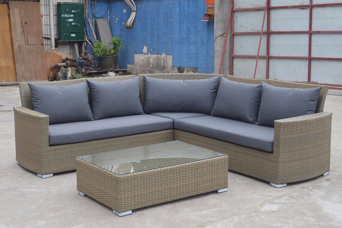 Garden Patio Wicker Rattan Outdoor Furniture, Holga Sectional Set Outdoor Furniture (J546)