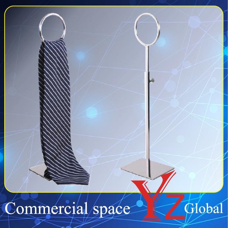 Tie Display Stand (YZ161519) Stainless Steel Storage Rack Tie Display Rack Tie Hanger Rack Belt Rack Accessory Rack Scarf Rack