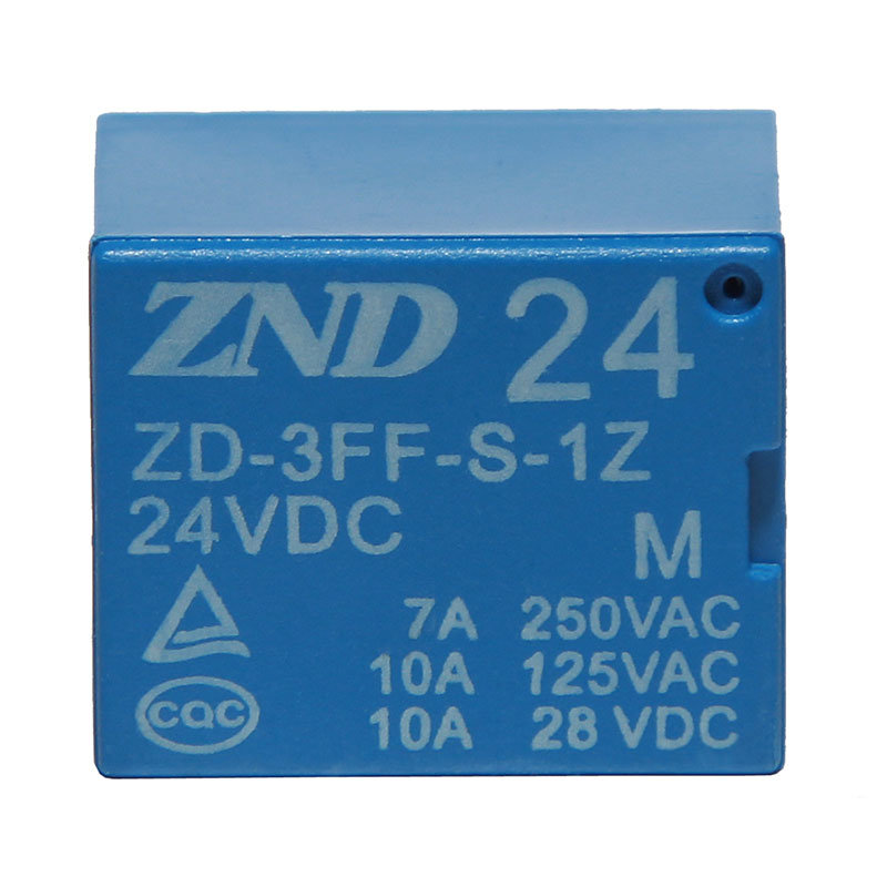 3FF (T73) 7A 24V 5pins Electromagnetic Relay Miniature Power Blue Cover Relay