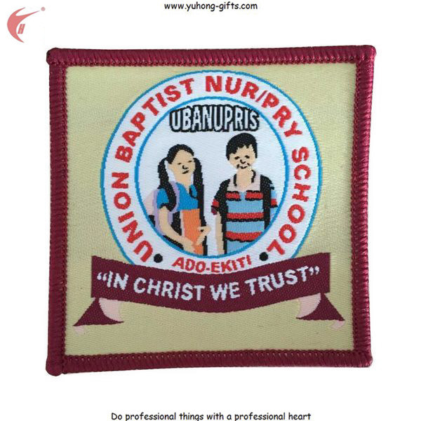 2015 New School Woven Patch Badge for School Uniform (YH-WB111)