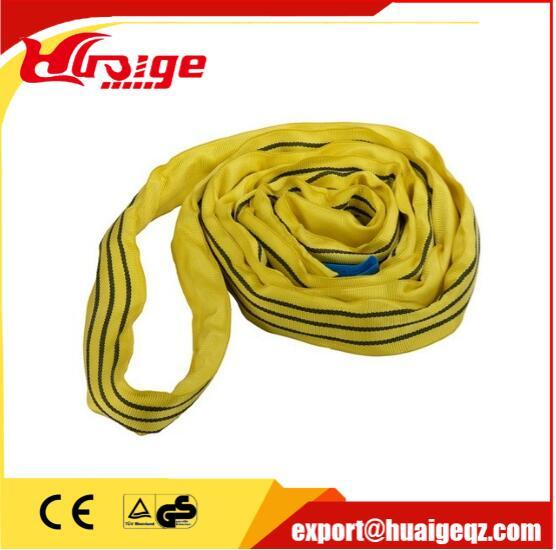 20t Heavy Duty Lifting Endless Round Polyester Soft Webbing Sling