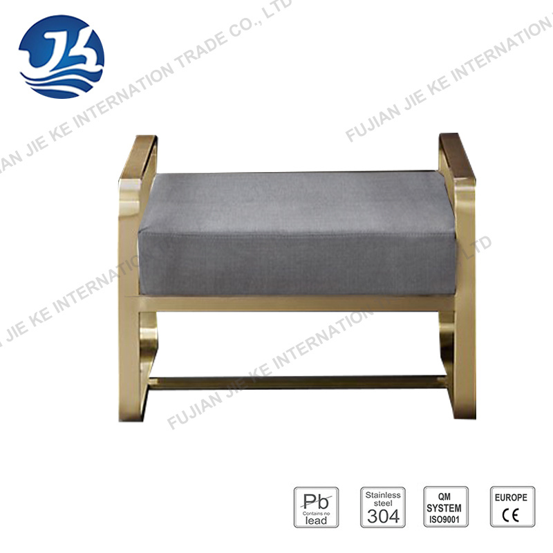 Simple and Comfortable Style Brown Leather Bench