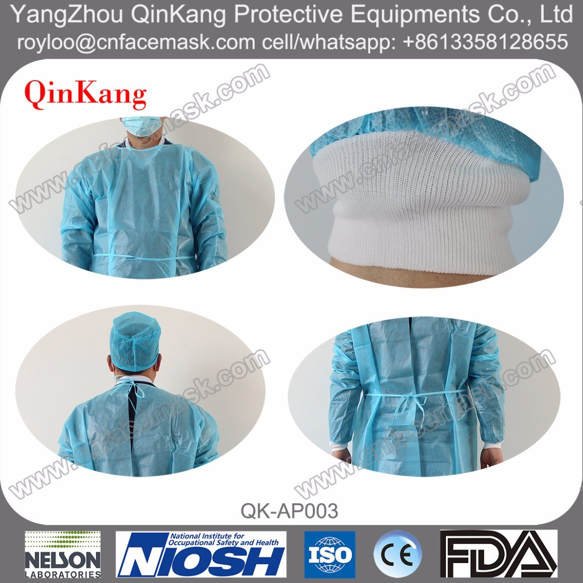 Hospital SMS Disposable Isolation Gown