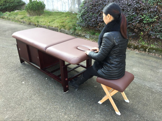 Stationary Massage Table with Cabinet