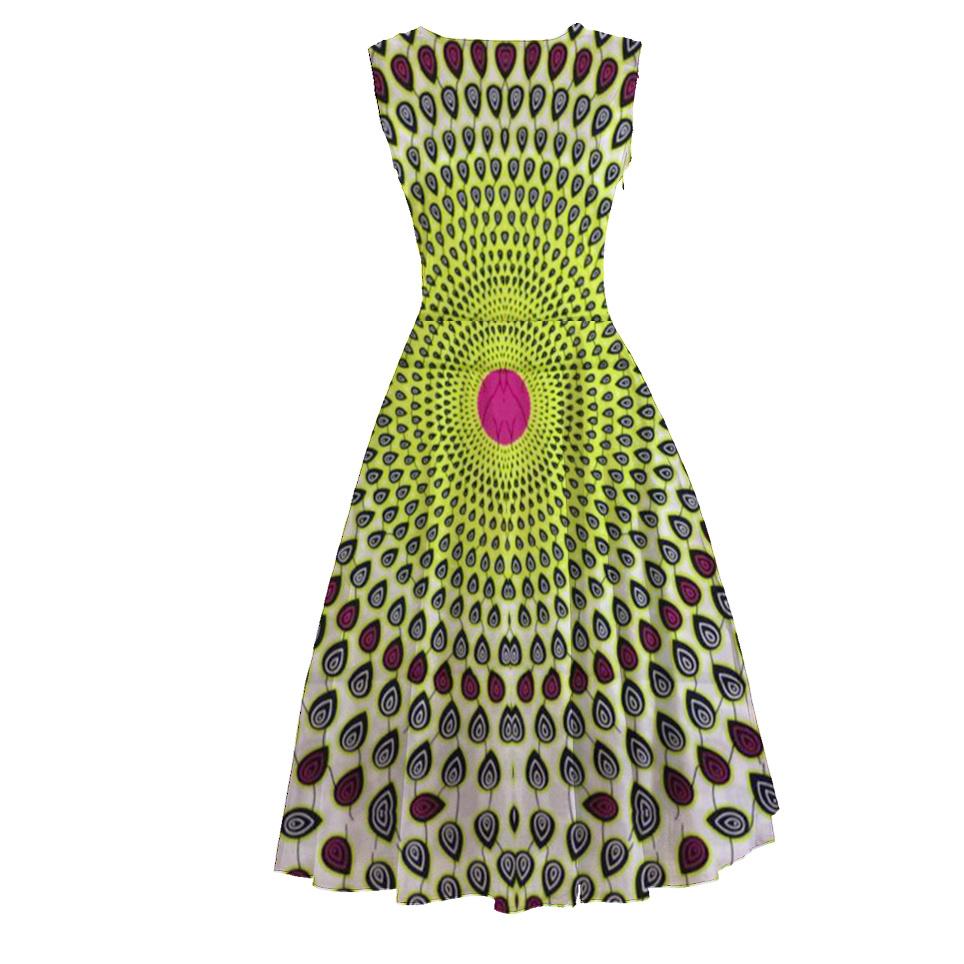 African Wax Women Clothes Ankara Floral Dresses Small Quatity Custom