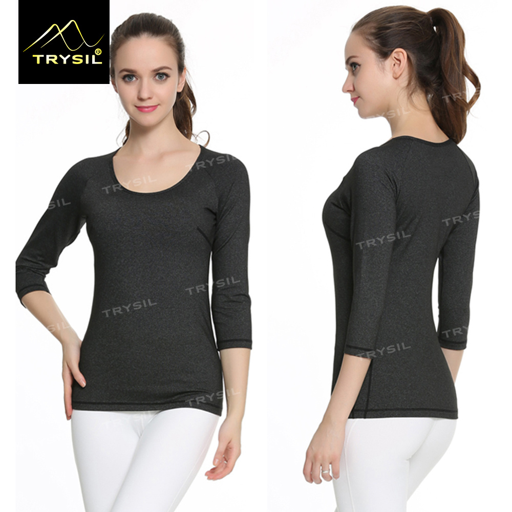 Long Sleeve Yoga T Shirt Running Shirt for Women