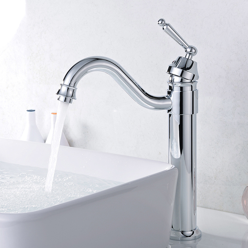 Flg  Sanitary Ware Single Lever Deck Mounted Bathroom Mixer Tap